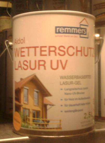 2 5 l remmers aidol wetterschutz lasur walnuss 15 20 l ebay. Black Bedroom Furniture Sets. Home Design Ideas